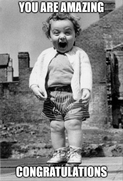 Excited baby Congratulations meme
